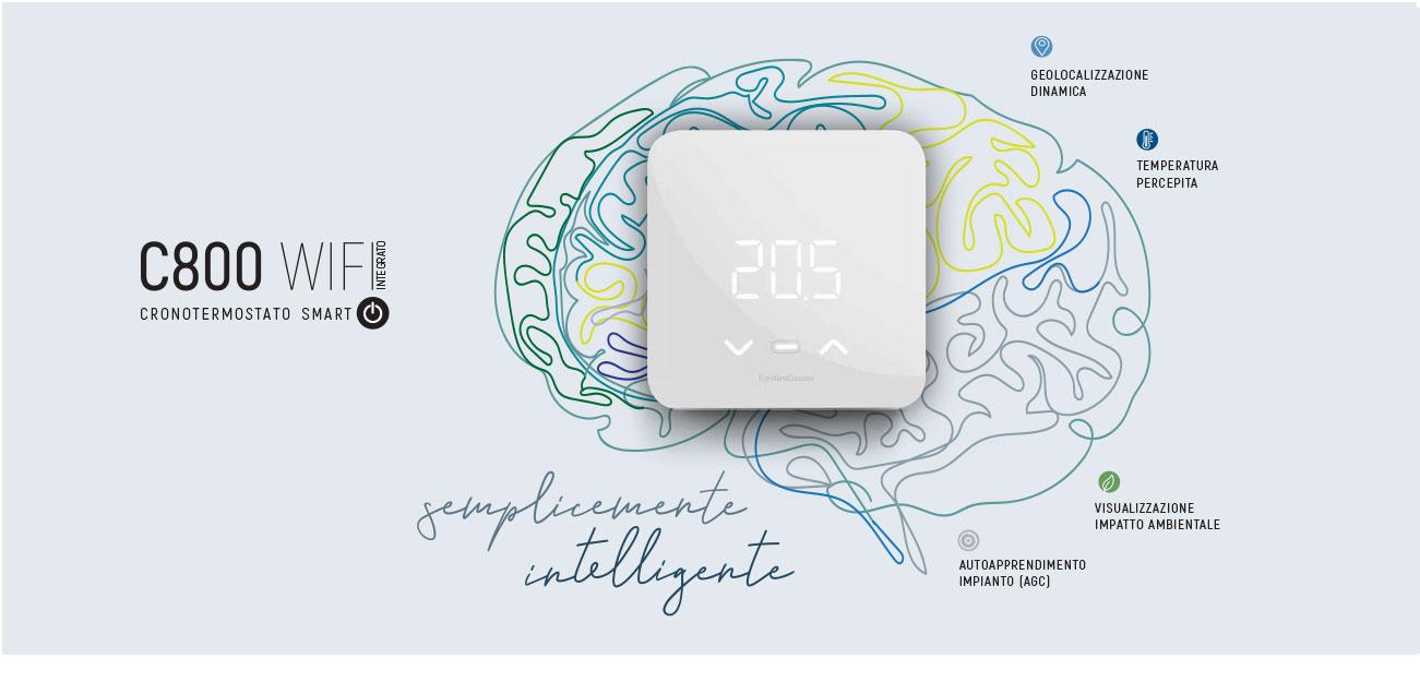 Cronotermostato WiFi Fantini Cosmi C800 Elettro-home.it