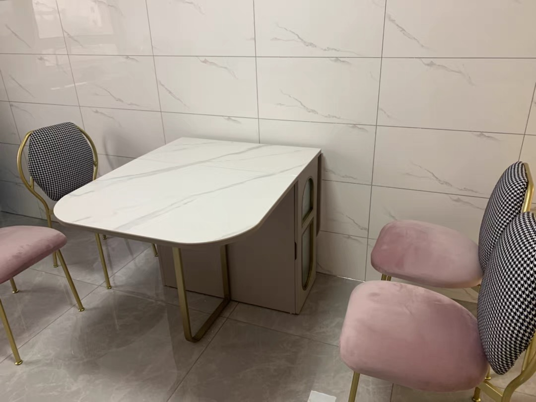 Weilai concept foldable dining table marble