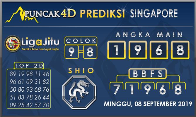 PREDIKSI TOGEL SINGAPORE PUNCAK4D08 SEPTEMBER 2019