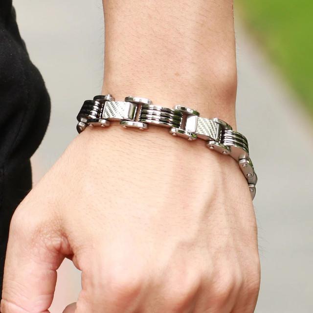 металлический мужской браслет