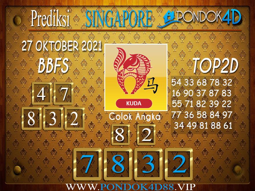 Prediksi Togel SINGAPORE PONDOK4D 27 OKTOBER 2021