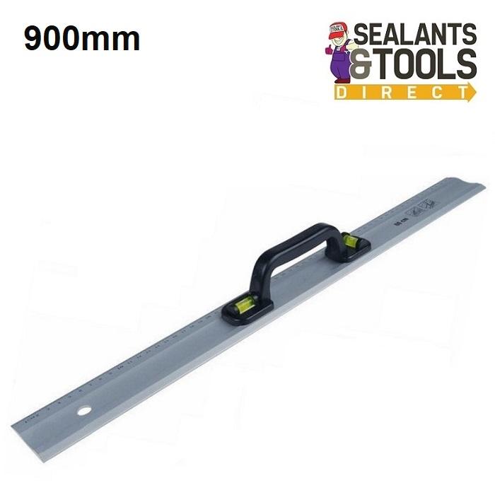 Silverline-Pro-Aluminium-Straight-Edge-Rule-Level-900mm-571509