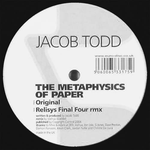 Download Jacob Todd - The Metaphysics Of Paper mp3