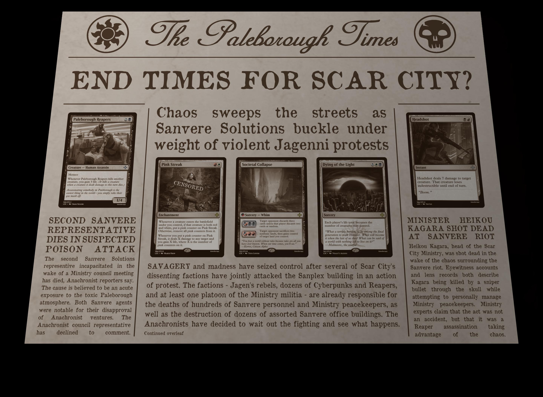 'The Paleborough Times' Page 1
