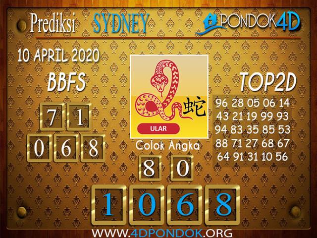 Prediksi Togel SYDNEY PONDOK4D 10 APRIL 2020