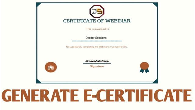 Create Certificates via Google Form for Webinars / Online Quiz
