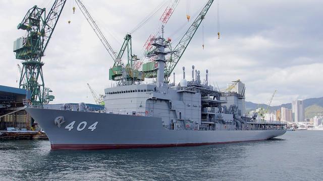 Japan-JS-Chiyoda-ASR-404-left-front-view-at-Kawasaki-Heavy-Industries-Kobe-Shipyard-Novenber-11-2017-01