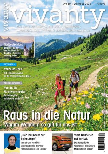 Cover: Vivanty Magazin fürs Leben Ausgabe 89 No 10 Oktober 2021