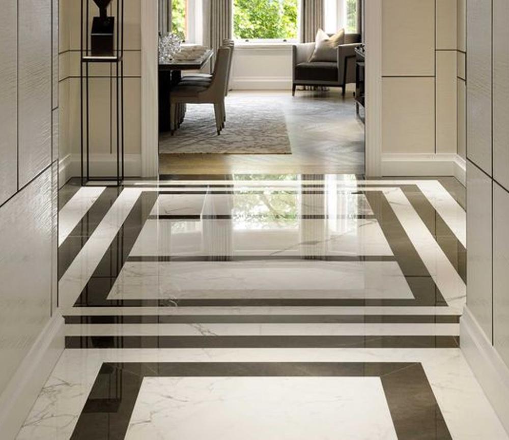desain lantai granit Square Granite Design