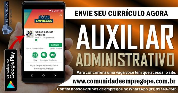 AUXILIAR ADMINISTRATIVO COM SALÁRIO R$ 1205,00 PARA EMPRESA DO SEGMENTO DE ENERGIA