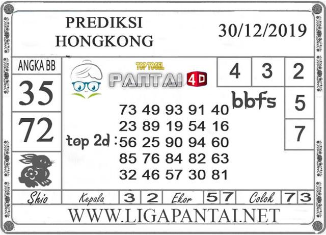 PREDIKSI TOGEL HONGKONG PANTAI4D 30 DESEMBER 2019