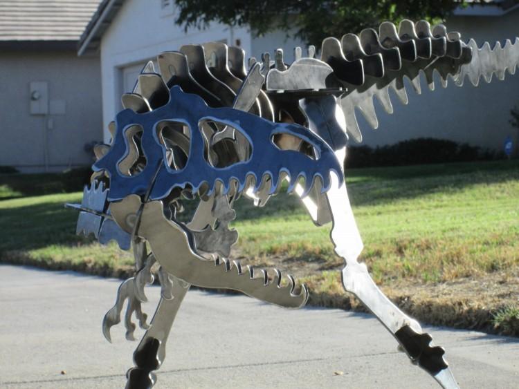 Allosaurus dinosaur 3D metal Garden art puzzle