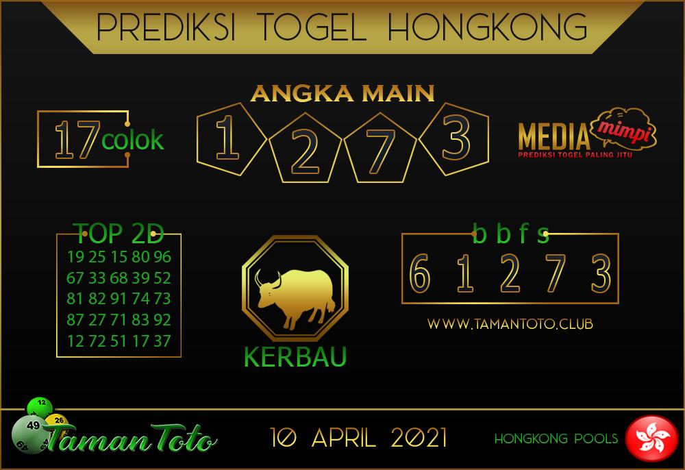Prediksi Togel HONGKONG TAMAN TOTO 10 APRIL 2021