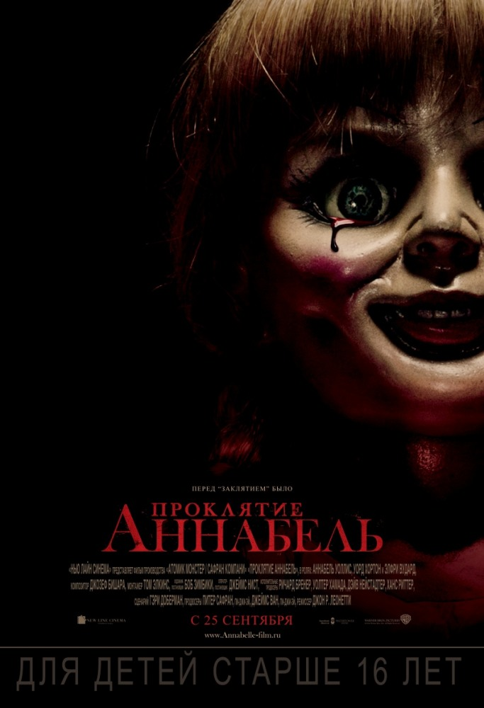 Смотреть Проклятие Аннабель / Annabelle Онлайн бесплатно - Джон находит идеальный подарок для своей жены — это редкая старинная кукла в белом...