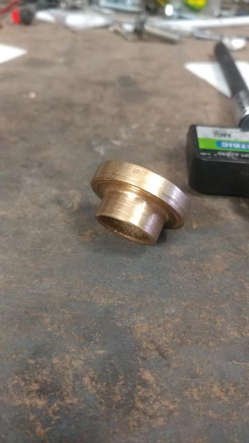 foxbody 5.0 pilot bushing (oilite) total length is 15.2mm biggest section is 32.02mm circumference smallest section is 20.85mm circumference stepped section for the larger cut is 6.32mm long