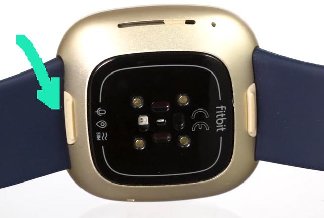 Einkerbung zum Wechseln des Armbandes der Fitbit Versa 3