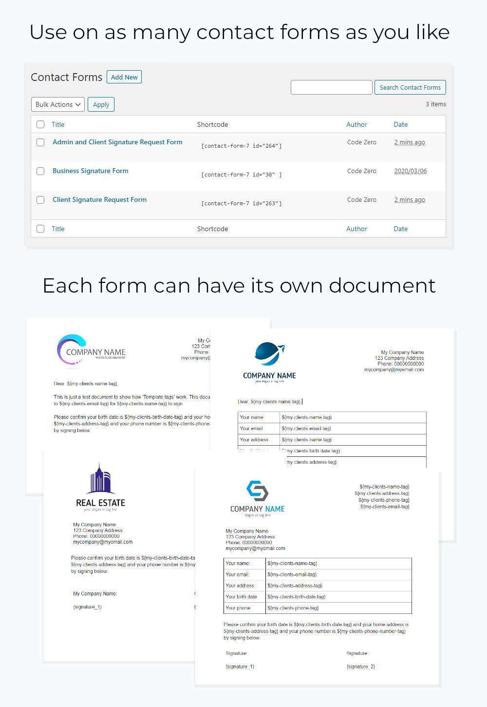 Contact Form 7 Docusign Envelope Creator for Wordpress - 3
