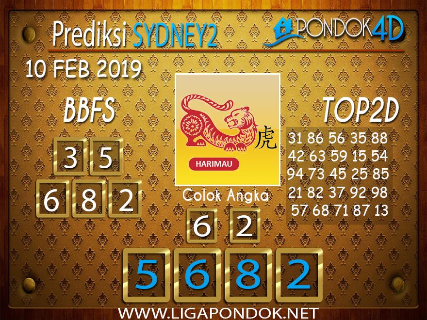 Prediksi Togel SYDNEY2 PONDOK4D 10 FEBRUARI 2019