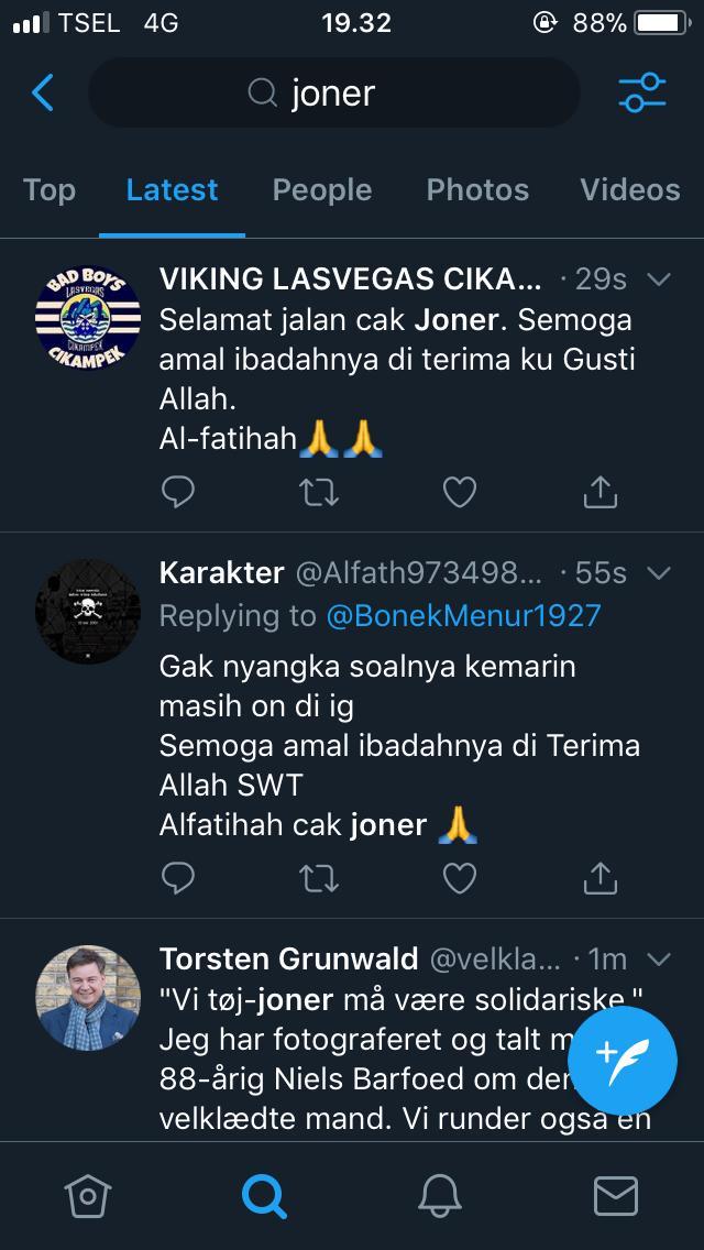 Kabar Cak Joner meninggal dunia.