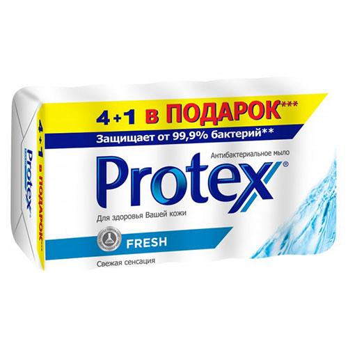 პროტექსის ანტიბაქტერიული მყარი საპონი 4+1 350 გრ მულტიპაკი ფრეში