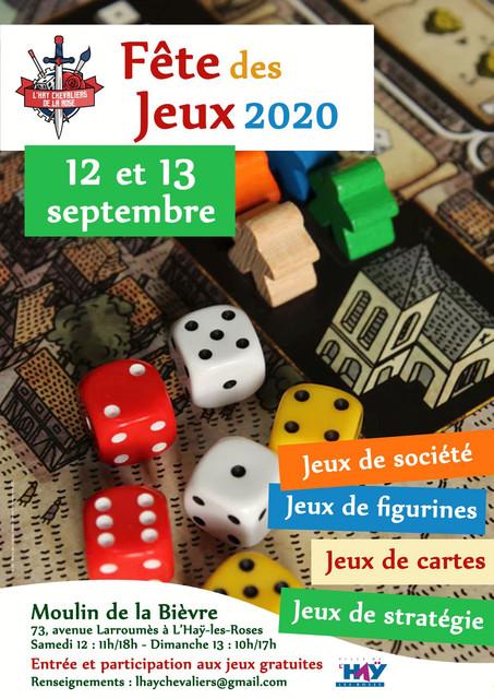 Fête des Jeux, Convention le 12 & 13 Septembre 2020 Affiche