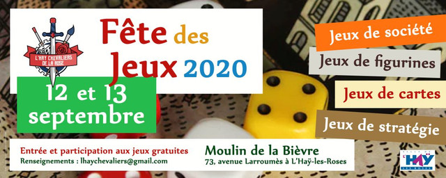 Fête des Jeux, Convention le 12 & 13 Septembre 2020 ANNULEE Banni-re