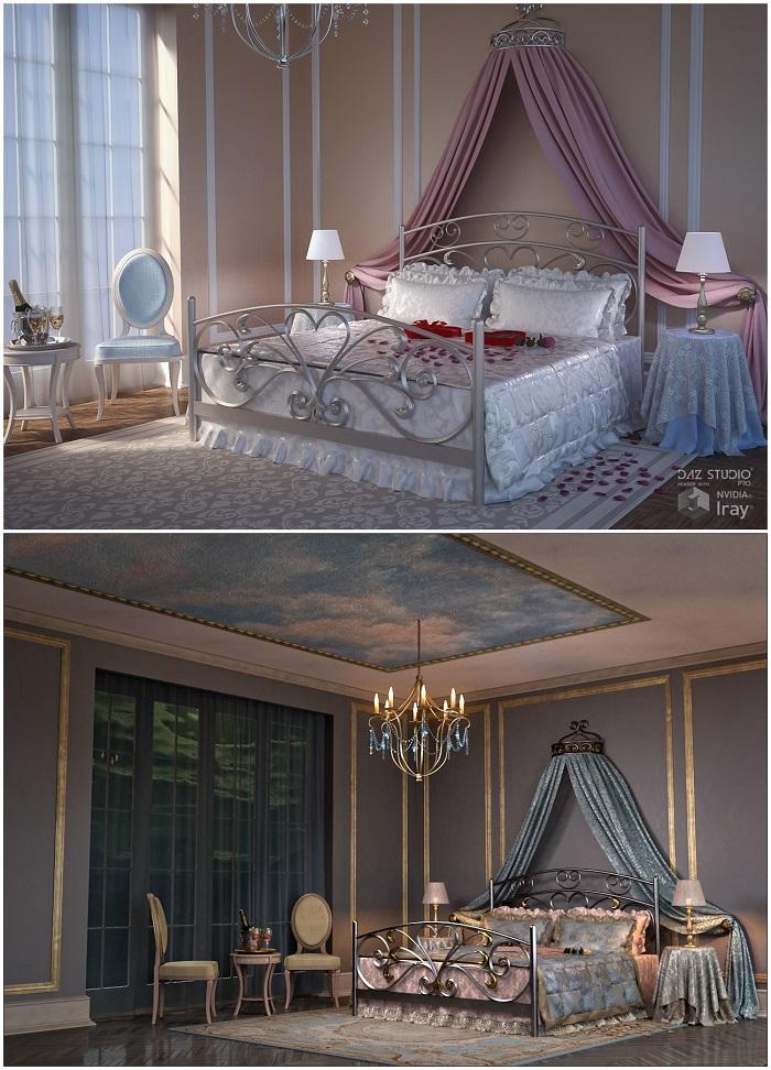 Romantic Bedroom + Textures