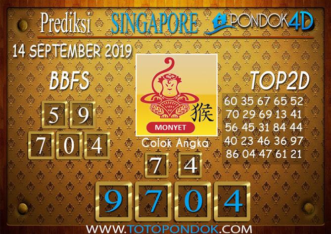 Prediksi Togel SINGAPORE PONDOK4D 14 SEPTEMBER 2019