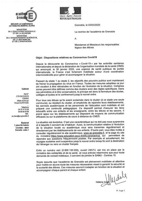 Épidémie/pandémie de Coronavirus/Covid 19 (1) - Page 38 Academie-grenoble