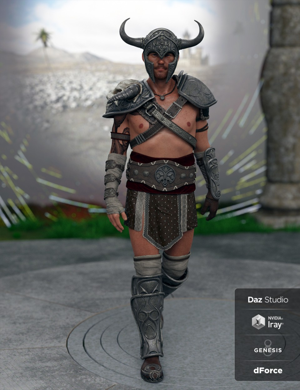 Deadly Warrior Armor for Genesis 8