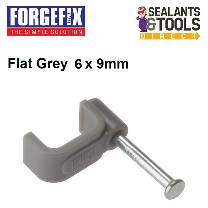Forgefix-Grey-flat-electric-cable-clip-2-5mm-box-of-100-2