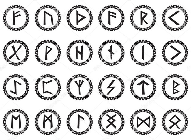 depositphotos 86963228 stock illustration set magic runes