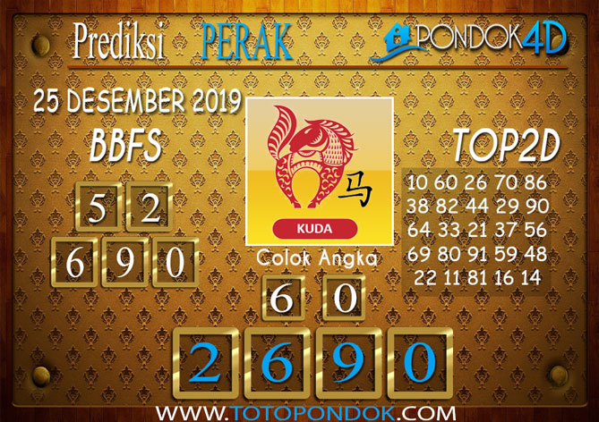 Prediksi Togel PERAK PONDOK4D 25 DESEMBER 2019