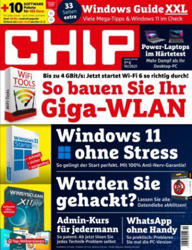 Cover: Chip Magazin No 10 Oktober 2021