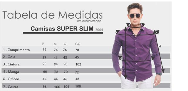 Tabelas de Medidas Super Slim