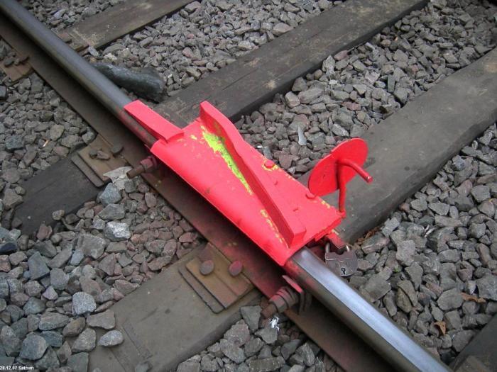 А есть башмак для сброса вагонов. |Фото: train-photo.ru.