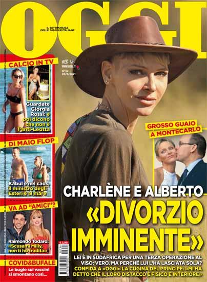 Principe Alberto e Charlene, «Divorzio imminente»