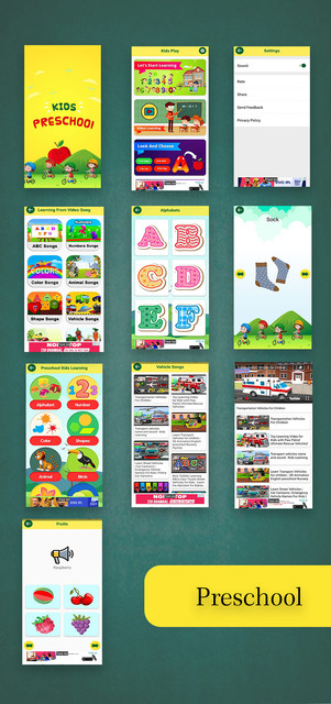 Kids Preschool Learning App With Facbook/Google Advertise Added | Android App - 1