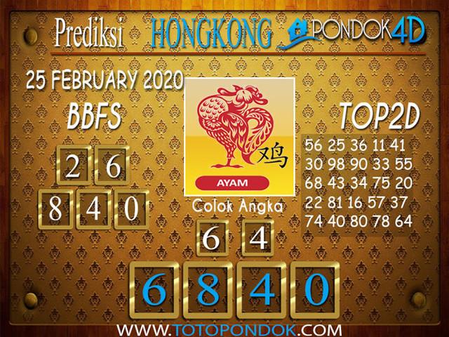 Prediksi Togel HONGKONG PONDOK4D 25 FEBRUARY 2020