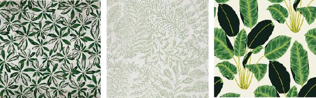 Керамическая плитка с растениями