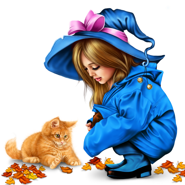 little girl in raincoat with a kitty png 217ee9294b7d36ea27.png