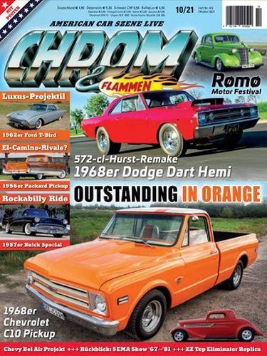 Cover: Chrom und Flammen Automagazin No 10 Oktober 2021
