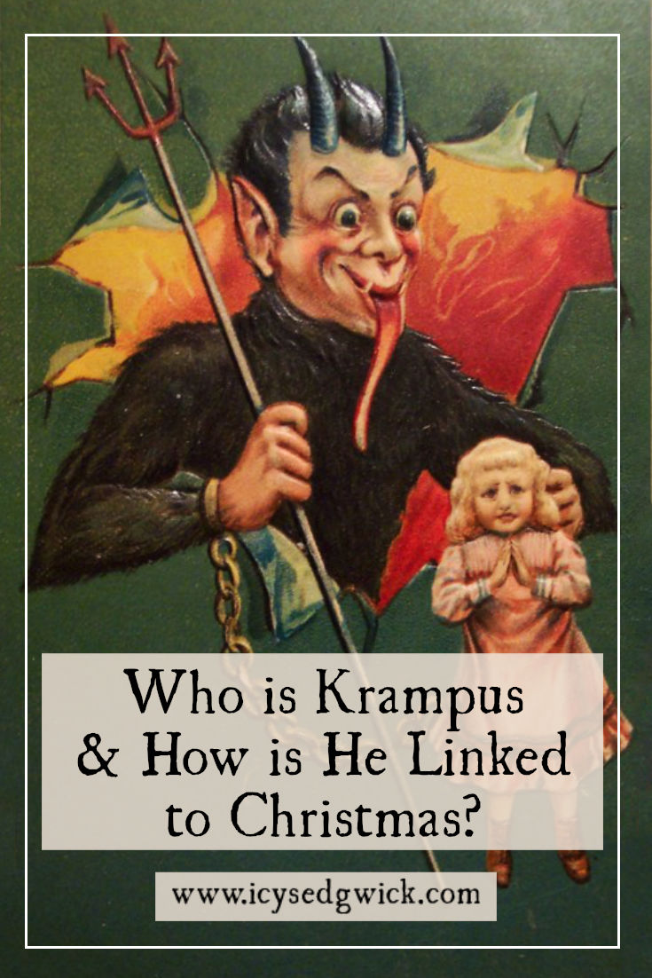 Krampus, sometimes seen as the Anti Santa, emerged into the mainstream in 2015 with his own movie. But who is he...and how is he linked with Christmas?