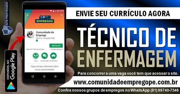 TÉCNICO DE ENFERMAGEM 500 VAGAS PARA EMERGÊNCIA PEDIÁTRICA NO RECIFE