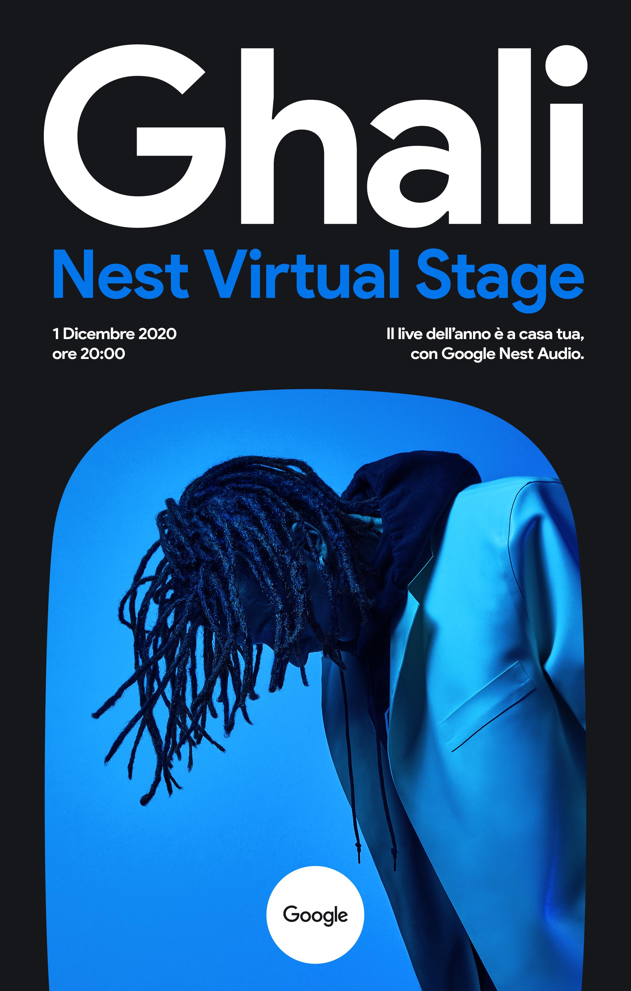 Ghali, il 1° dicembre il live Nest Virtual Stage