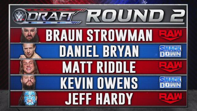 WWE Draft 2020 Ronda 2