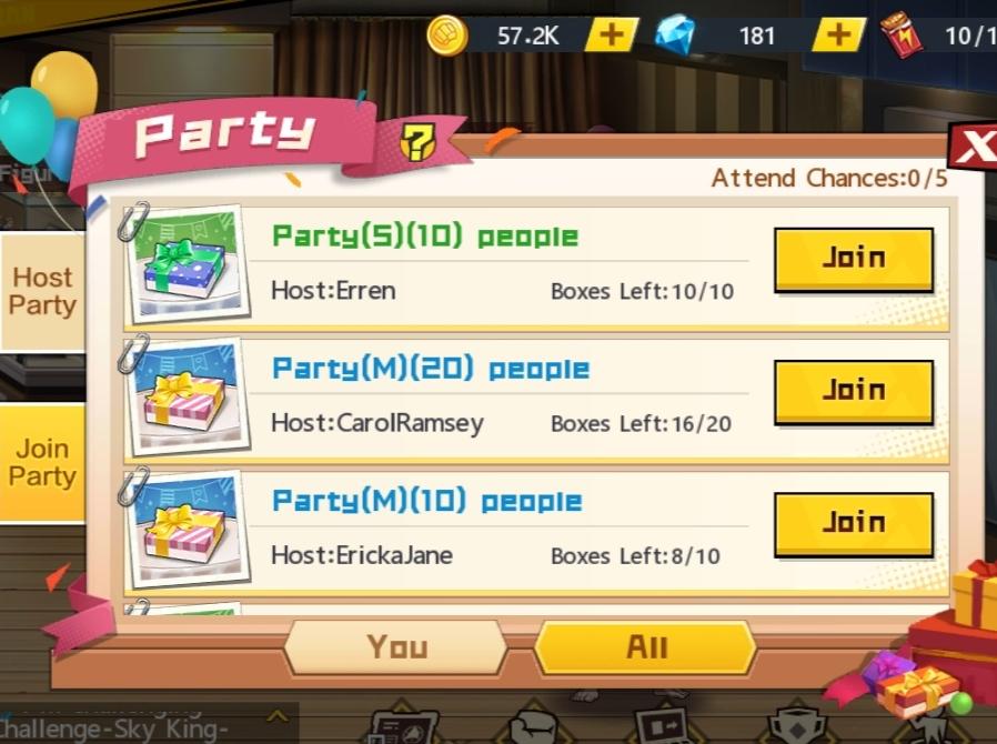 cara invite teman ke party pesta one punch man