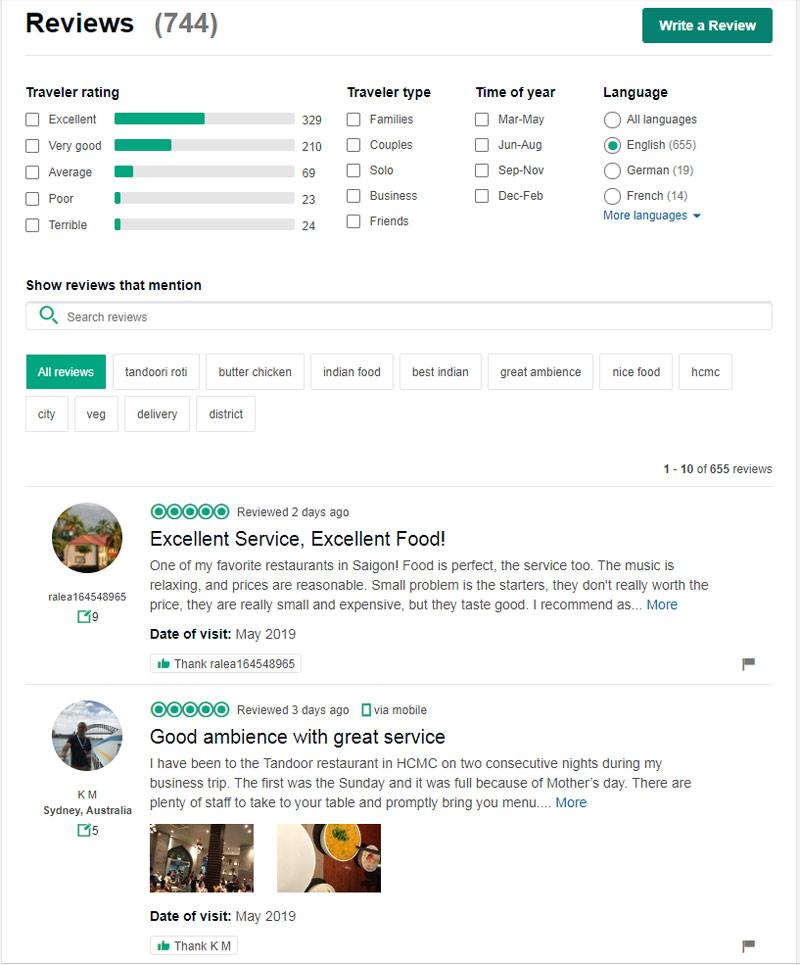 Tandoor Restaurant review