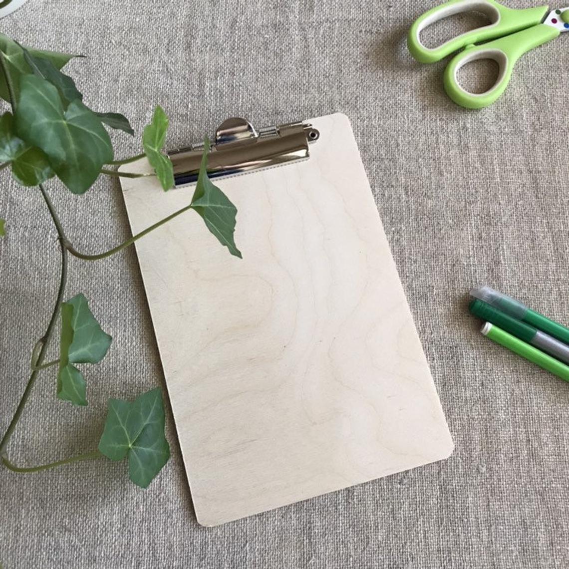 Custom Made Oak Clipboard For Menu'S