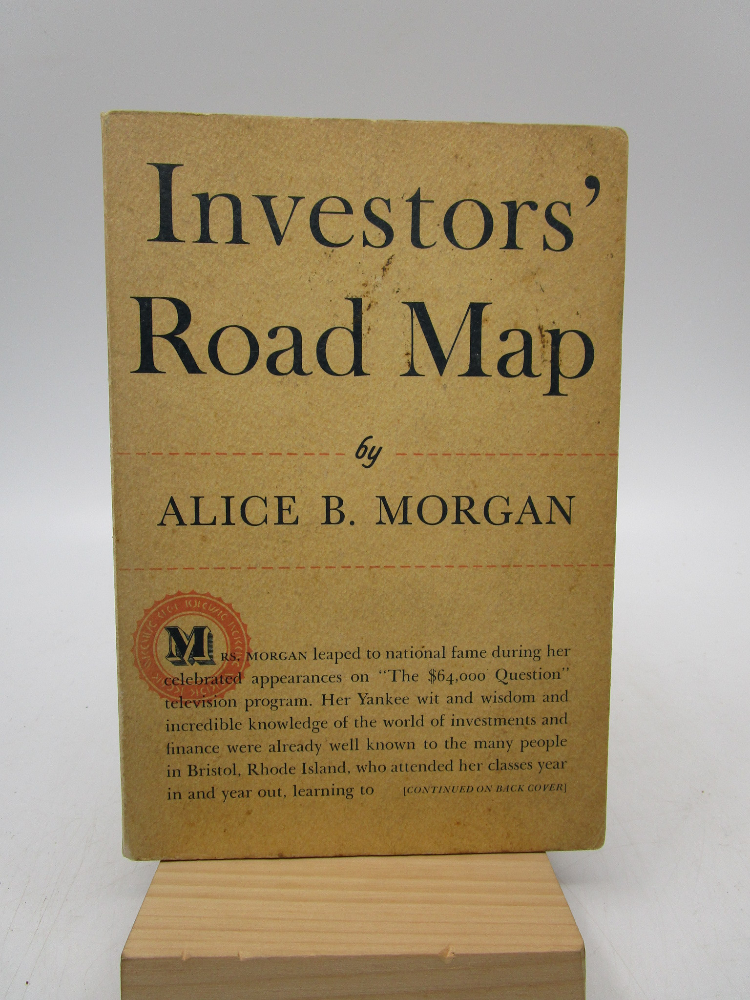 Image for Investors' Road Map (Signed)